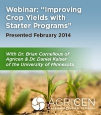 Improving Crop Yields with Starter Programs